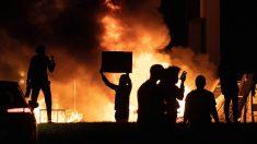 Imagen de los disturbios registrados en Minneápolis tras la muerte del George Floyd.