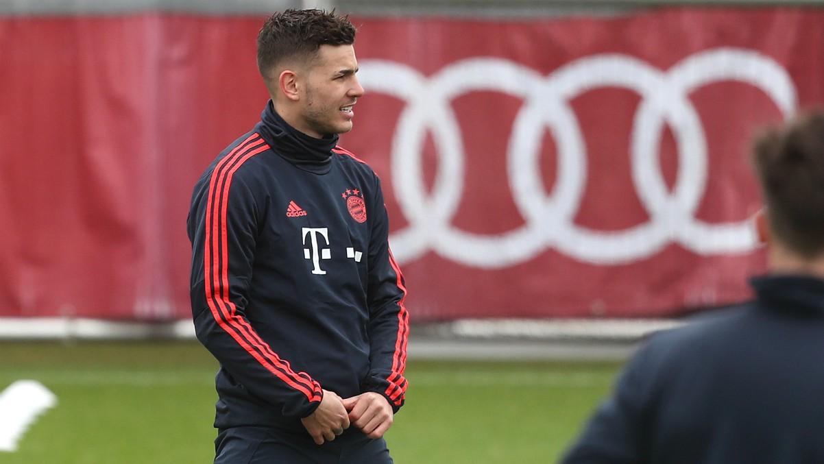 Lucas Hernández, durante un entrenamiento con el Bayern de Múnich. (Getty)