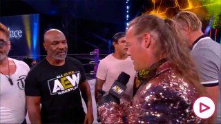 Tyson, justo antes de provocar la pelea.