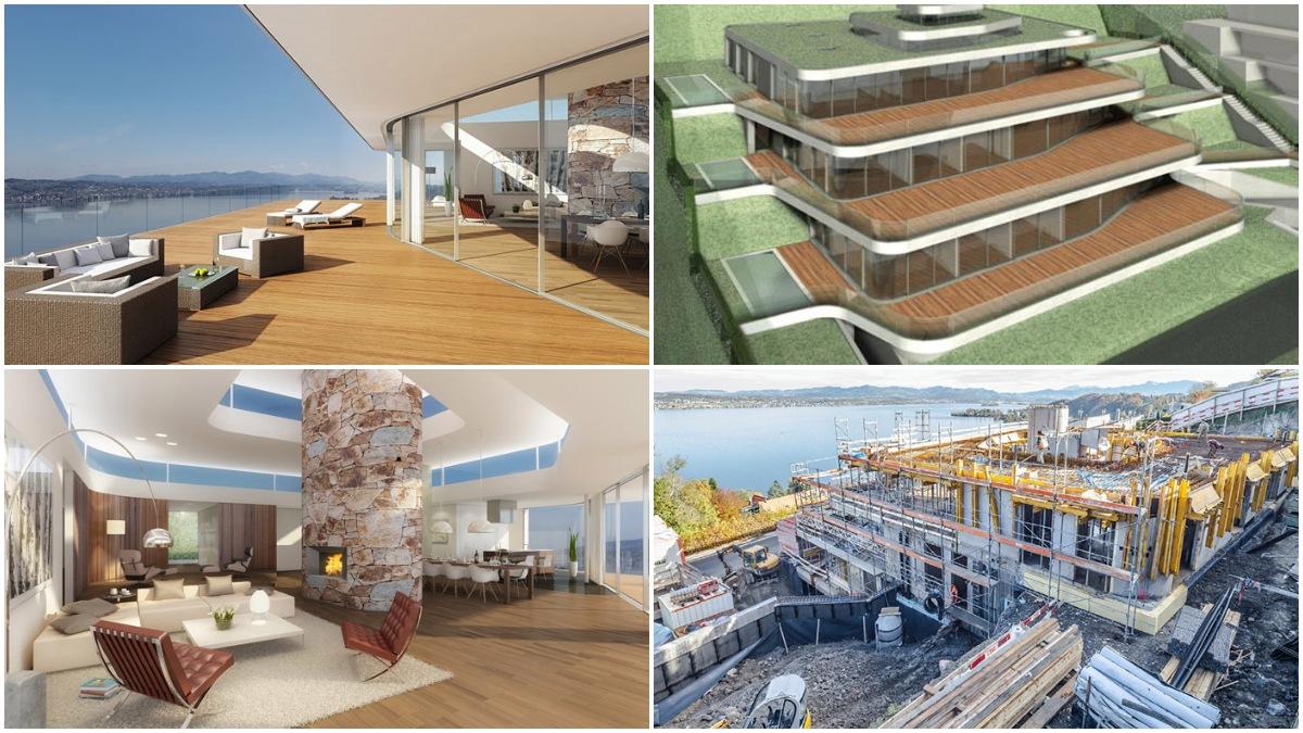 Puro lujo hecho a medida: la casa de cristal de Federer con vistas al lago de Zúrich, desde dentro