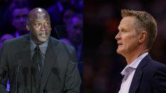Michael Jordan y Steve Kerr.