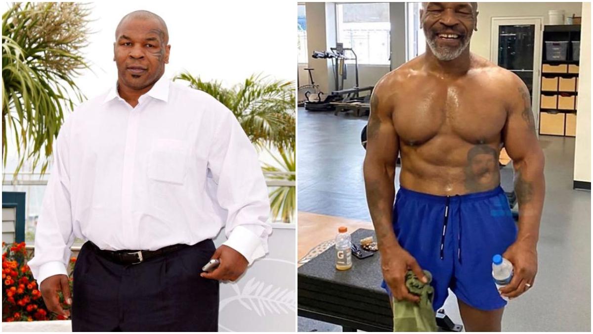 El antes y el después de Mike Tyson.