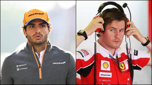 Carlos Sainz y Rob Smedley.