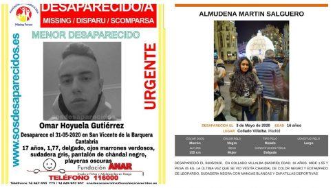 Los dos jóvenes desaparecidos