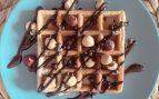 Receta de gofre sano de chocolate sin azúcar