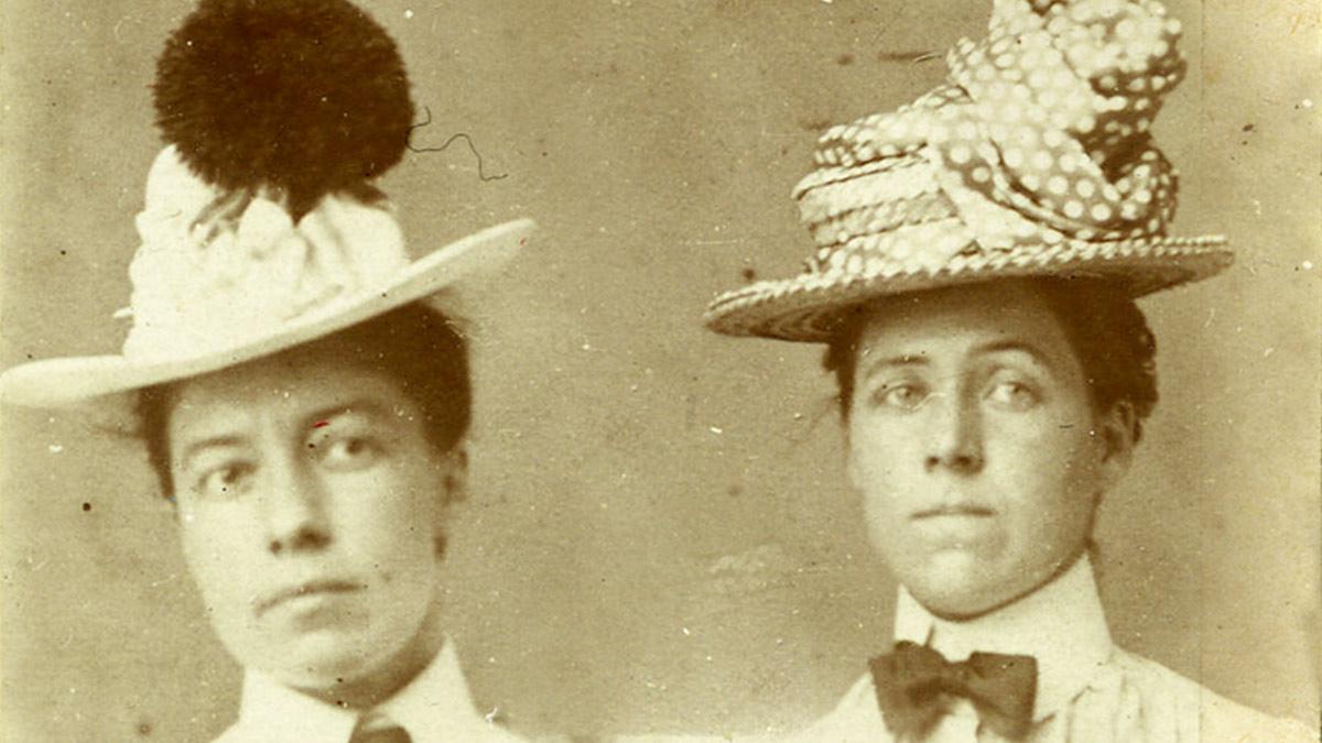 Alice Austen y Gertrude Tate.  Cortesía @Alice Austen House.