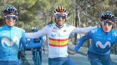Alejandro Valverde, Enric Mas y Marc Soler.