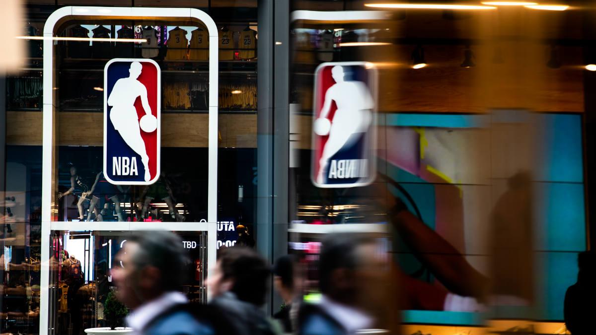 Una imagen de la tienda oficial de la NBA en Nueva York. (Getty)