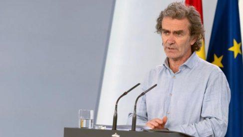 Fernando Simón durante una presentación de datos de Sanidad.