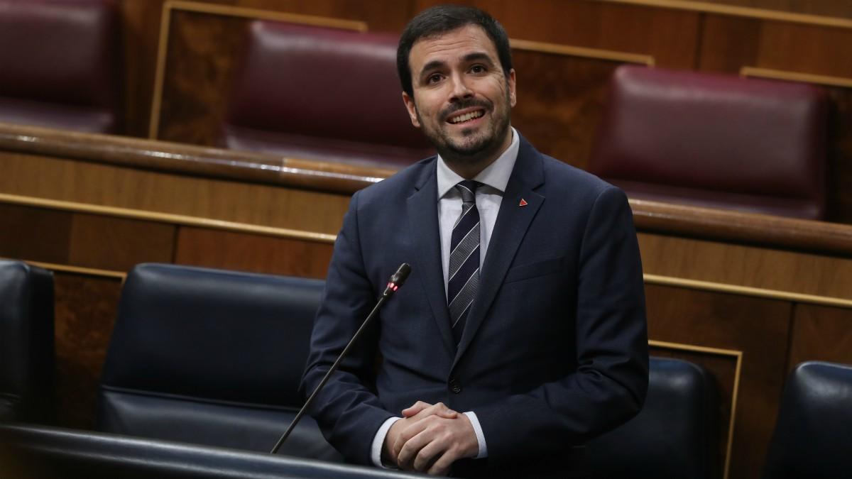 El ministro de Consumo, Alberto Garzón, interviene durante el debate este miércoles en el Congreso.