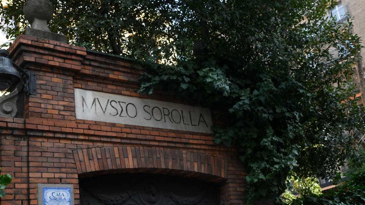 Entrada del Museo Sorolla ubicado en un palacete del Paseo del General Martínez Campos