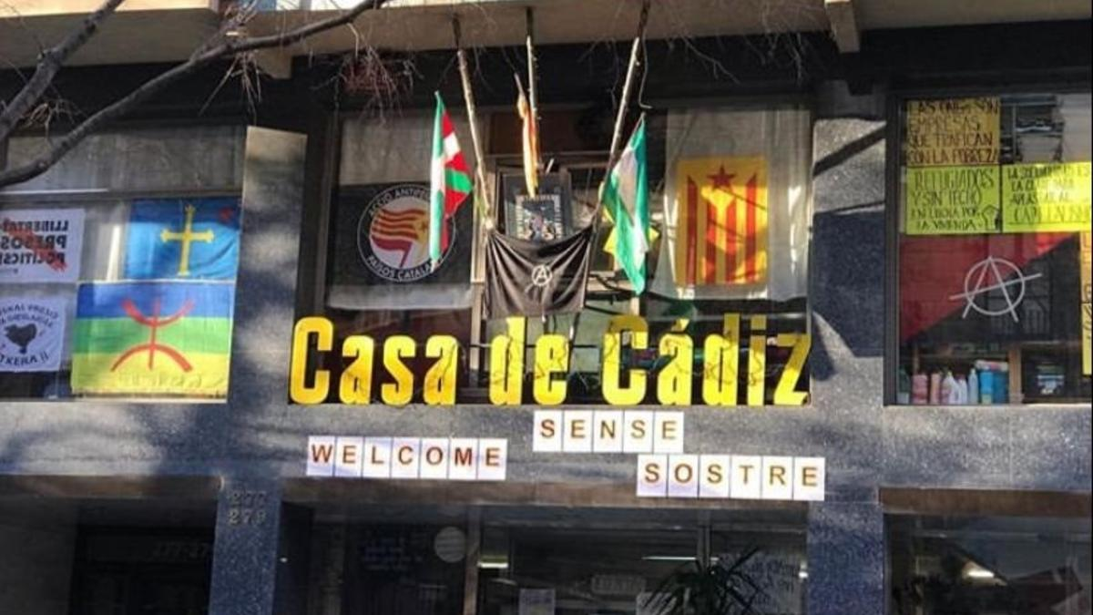 Fachada de la Casa de Cádiz de Barcelona. Foto: EP