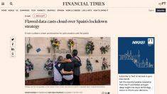 El artículo con el que el 'Financial Times' pone en duda el recuento que hace el Gobierno de Sánchez con los fallecidos por coronavirus.