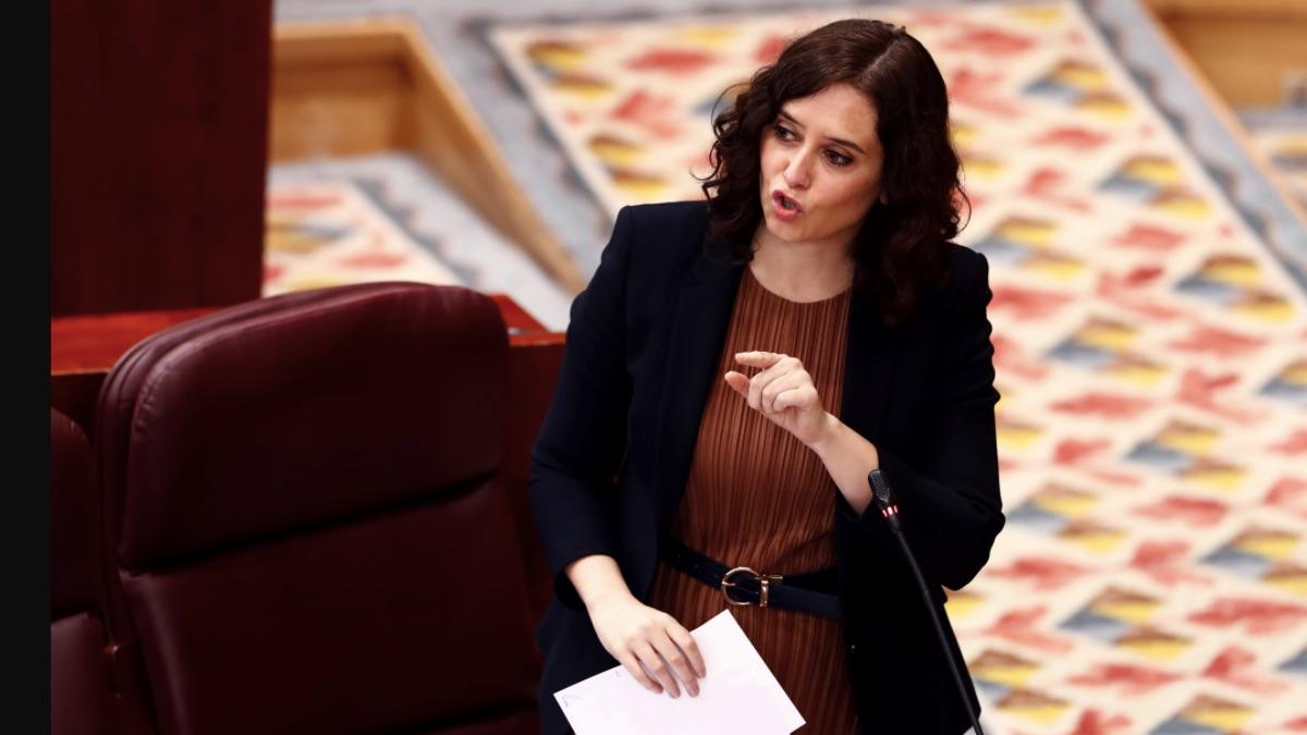 Isabel Díaz Ayuso en la Asamblea de Madrid. (Foto: EP)