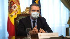 El delegado de Gobierno, José Manuel Franco, durante la reunión que mantuvo este jueves con la Federación de Municipios madrileña. (Foto: Efe)