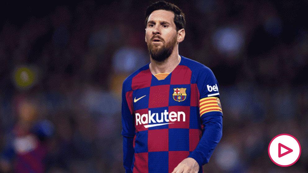 Leo Messi, durante un partido (Getty)