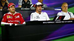 Vettel, Fernando Alonso y Bottas. (Getty)