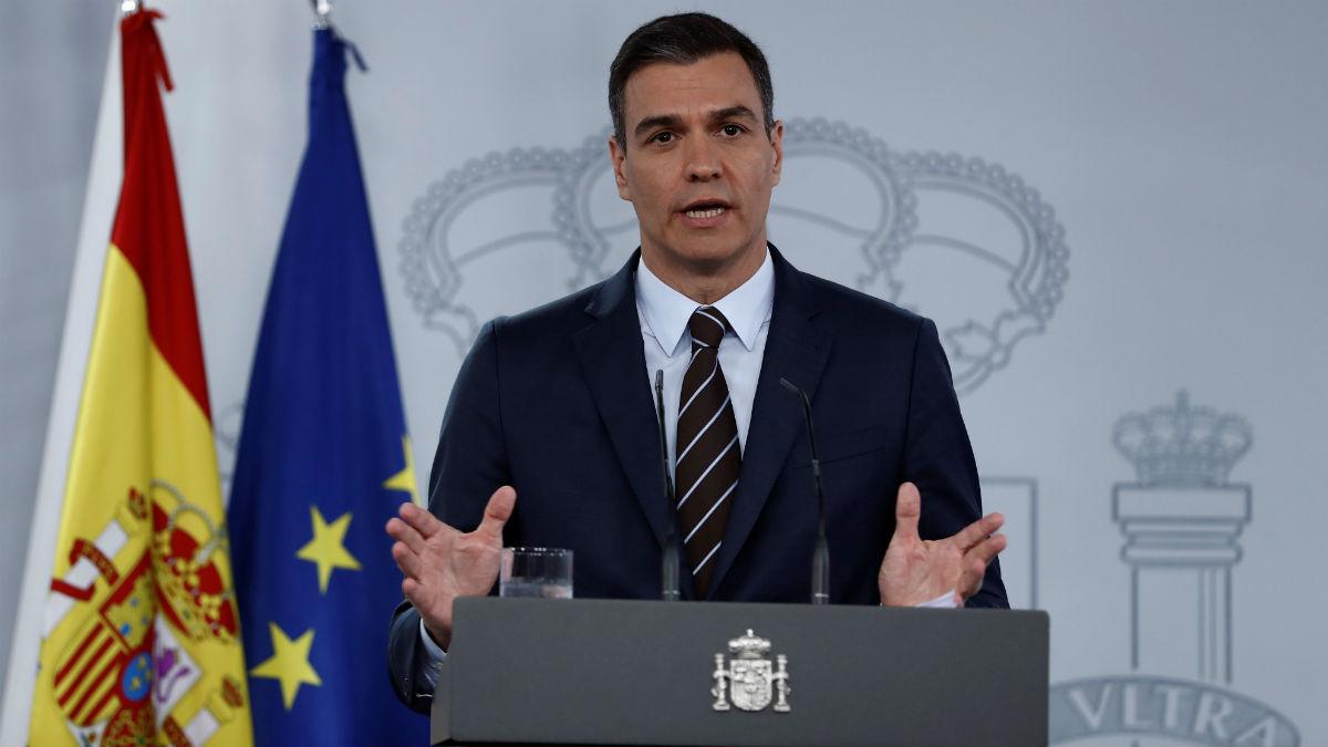 Pedro Sánchez, en una comparecencia en Moncloa (EFE)
