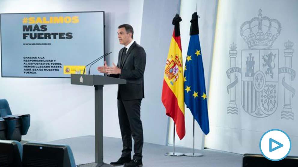El presidente del Gobierno, Pedro Sánchez este domingo. – Moncloa