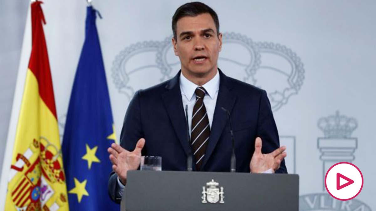 Pedro Sánchez, en su comparecencia de este domingo. (EFE)