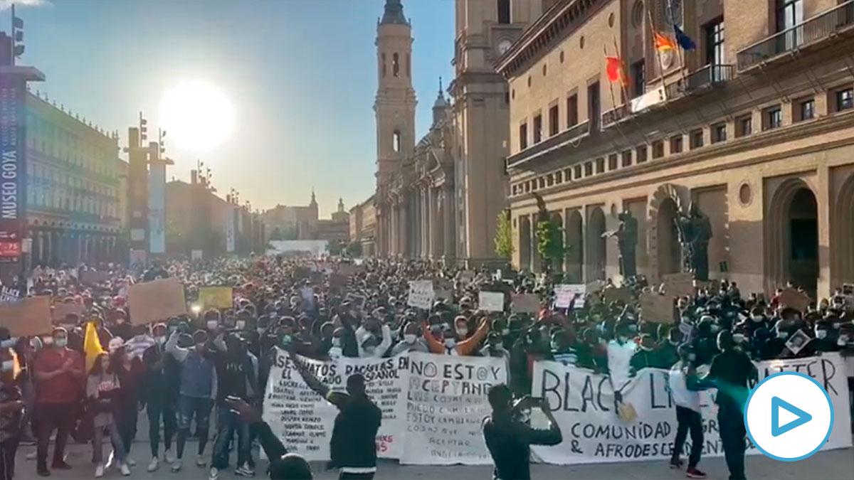 Manifestación antirracista en Zaragoza.