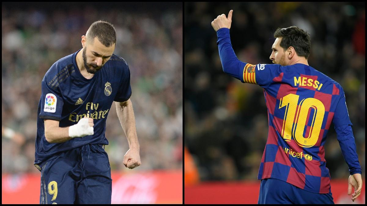 Benzema y Messi luchan por el pichichi. (AFP)