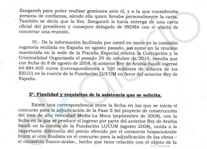 Anticorrupción acusa a Orleans en una comisión rogatoria a Suiza de «ocultar comisiones de Juan Carlos I»