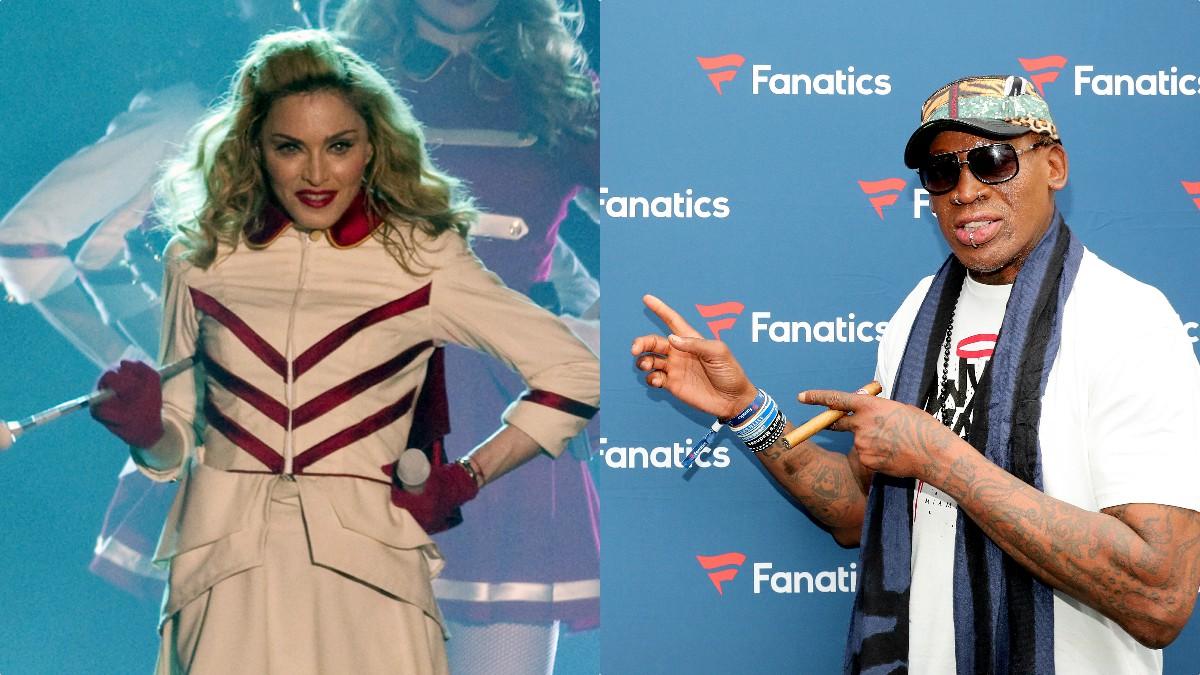 Madonna y Dennis Rodman.