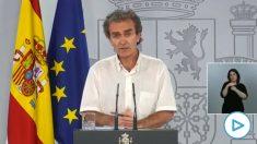 Fernando Simón durante su comparecencia de este lunes.