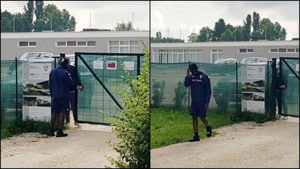 Mario Balotelli en la ciudad deportiva del Brescia. (Fotos: EFE)