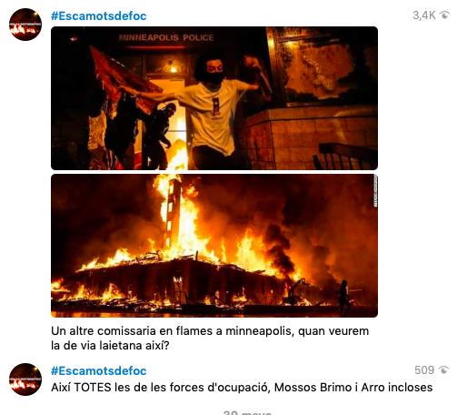 La 'kale borroka' catalana prepara el regreso violento tras la pandemia: «No hay insurrección pacífica»