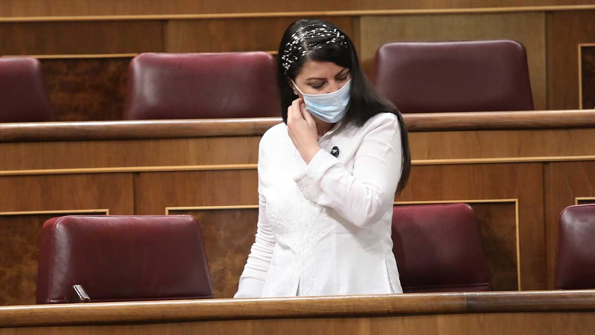 Macarena Olona, diputada de Vox, en el Congreso. Foto: Europa Press.