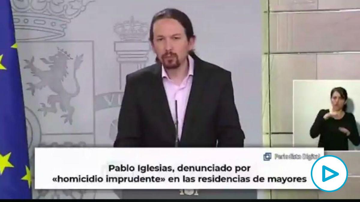El vídeo de Vox sobre la gestión de Pablo Iglesias en las residencias: «¿Por qué les abandonaste?».