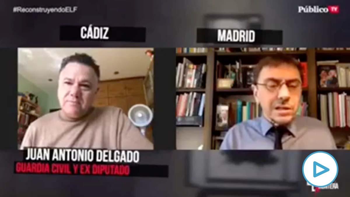 El ex diputado de Podemos, Juan Antonio Delgado, entrevistado por Juan Carlos Monedero.