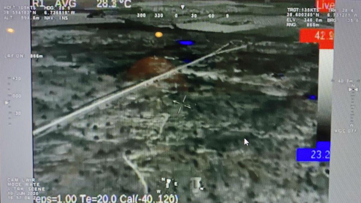 Imagen similar a las tomadas por el dispositivo de infrarrojos del helicóptero de Infoex.