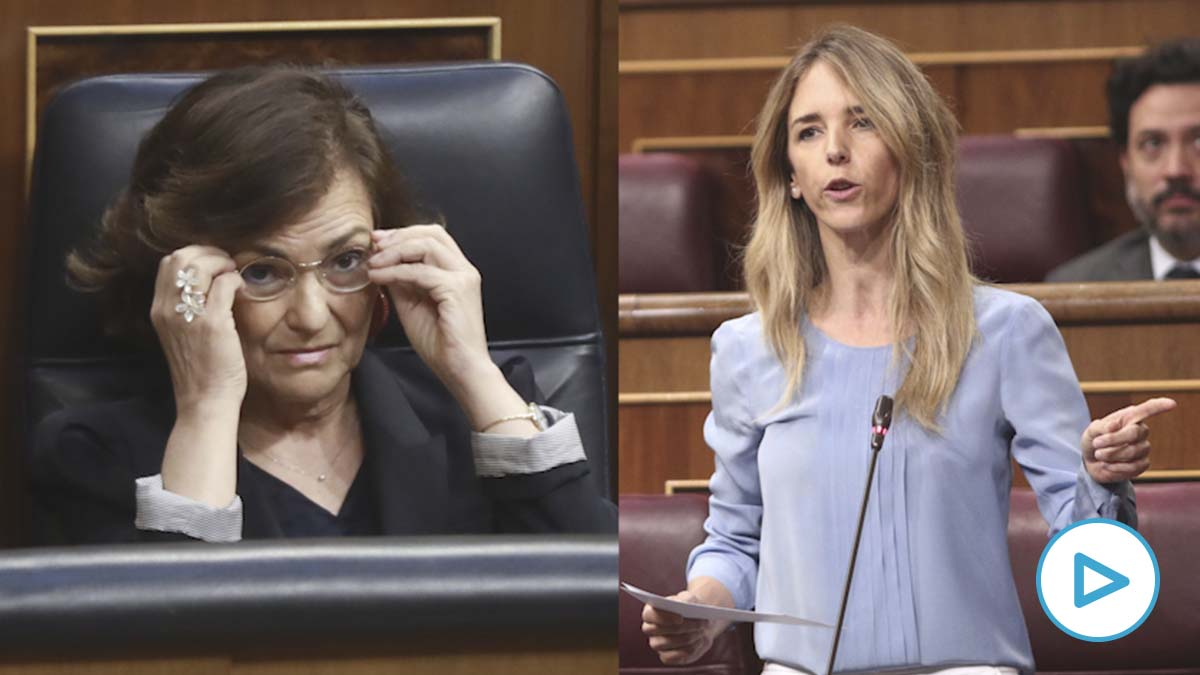 Carmen Calvo se queda sin respuestas ante Cayetana Álvarez de Toledo: «Si quiere nos tomamos un café».
