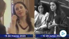 Irene Montero vuelve al «no lo sabíamos» tras reconocer que Europa tomó «medidas superdrásticas» antes del 8-M.