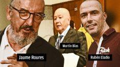 Jaume Roures, el comisario Martín Blas y el policía Rubén Eladio.
