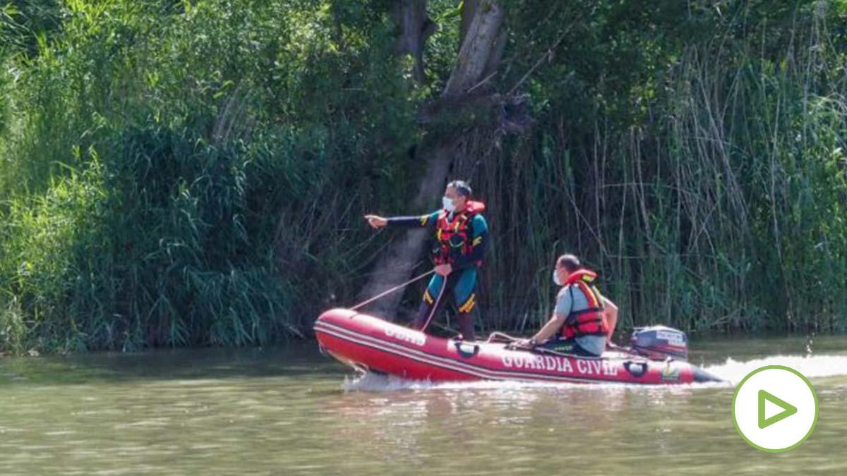 Operativo de búsqueda de un cocodrilo supuestamente avistado en el Pisuerga (Valladolid). Foto: EP