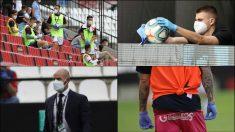 Así fue el regreso del fútbol en España con el Rayo-Albacete. (Fotos: EFE)