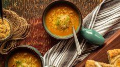 Sopa de quinoa con cebolla