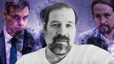 Alfonso Reyes, Pedro Sánchez y Pablo Iglesias.