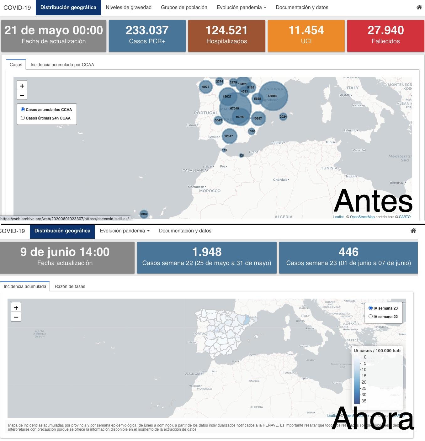 Apagón informativo en Sanidad: deja de publicar el informe semanal del contagio en los sanitarios