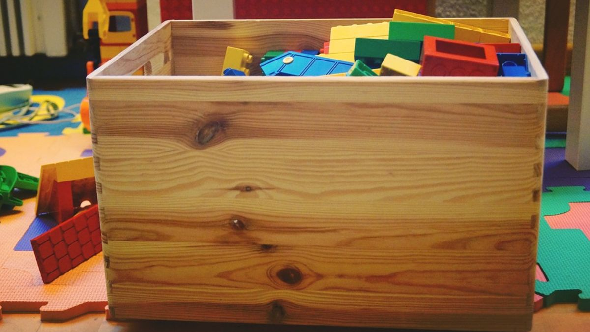 Pasos para hacer un contenedor para guardar los juguetes de los niños