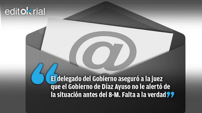 Los correos de la Comunidad de Madrid que demuestran que Franco miente