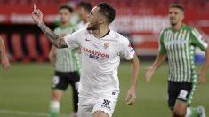 Ocampos celebra un gol. (AFP)