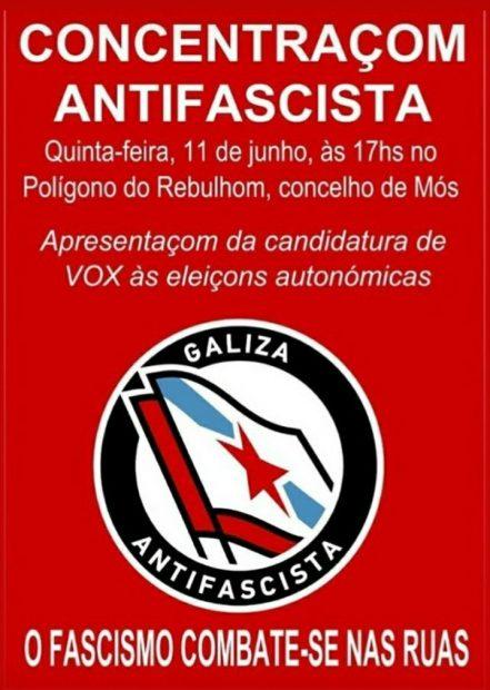 Un grupo de extrema izquierda amenaza a Vox en Galicia: «¡Esta vez vais vosotros a las cunetas!»
