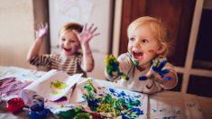 La combinación de colores, es una divertida actividad de reciclaje para niños
