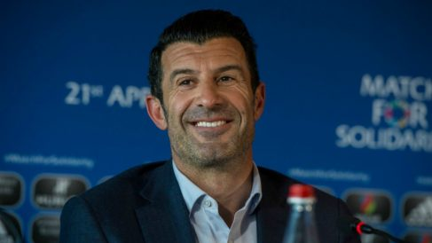 Luis Figo, en un acto. (Getty)