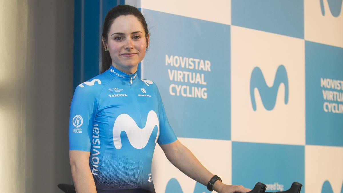 Lourdes Oyarbide, campeona de España de ciclismo en ruta.